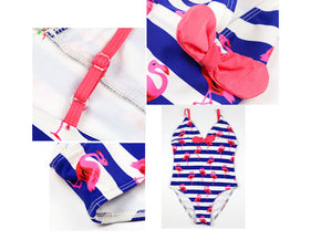 Girl Flamingos Swimsuits 2019 Kids One Piece Suits Child Swimwear Girls Hot Springs Beach Swimsuit Bathing Suit Biquini Infantil
