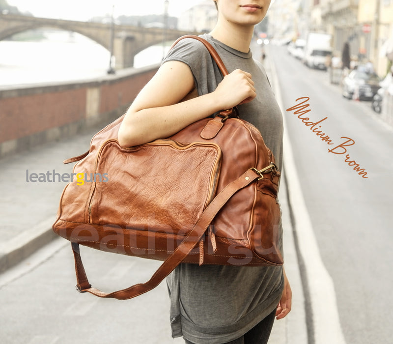 VALENTINA LEATHER TRAVEL Bag