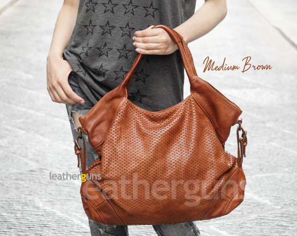 ALEGRA LEATHER HANDBAG