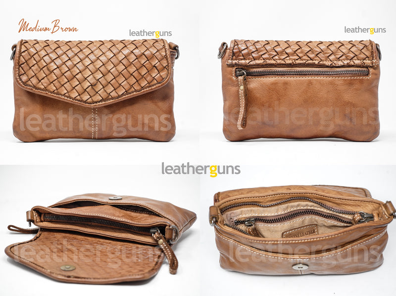 BEATRICE LEATHER CROSSBODY Pouch bag Italian Leather