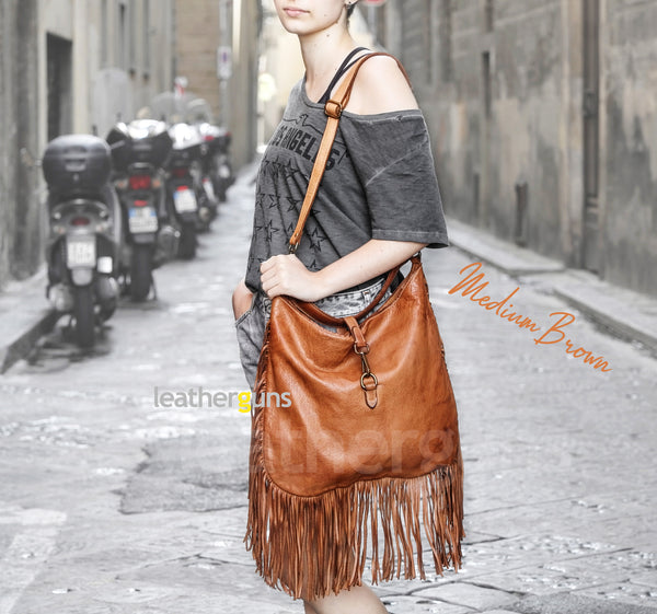 COLOMBINA LEATHER HANDBAG