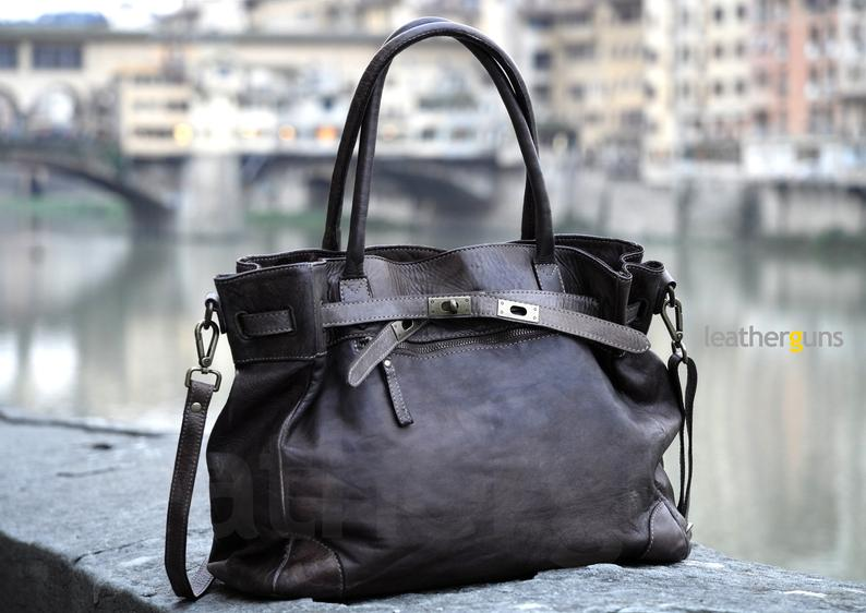 CLAUDIA LEATHER HANDBAG