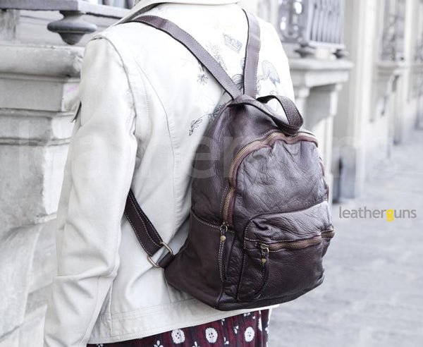 LORETTA LEATHER BACKPACK