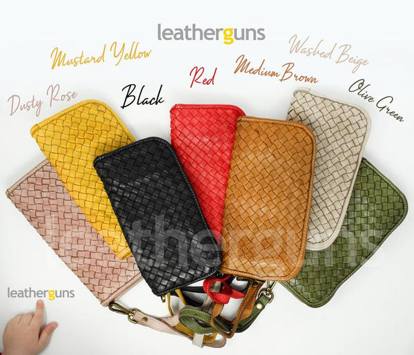 PIETRA LEATHER WALLET Italian Woven Leather Wallet