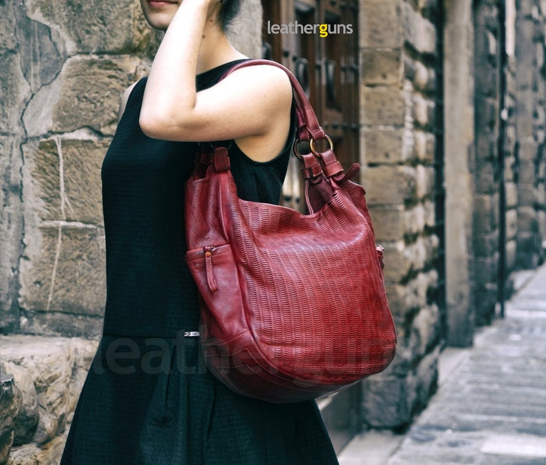 BENEDETTA LEATHER SHOULDER Bag