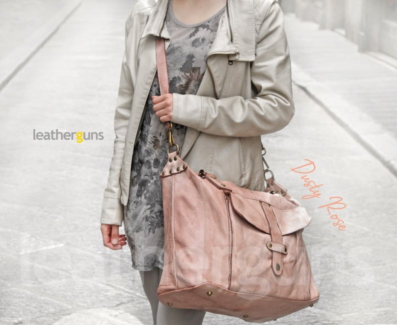 OLIVIA LEATHER SHOULDER Bag