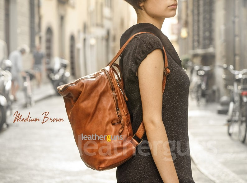 CATERINA LEATHER BACKPACK