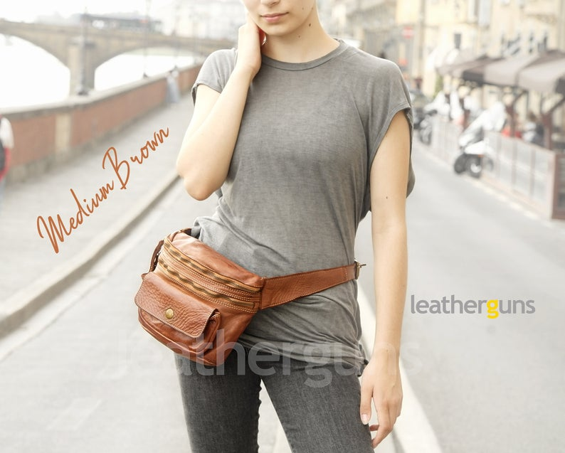 IRENE LEATHER BELT Bag Italian Leather Belt Bag