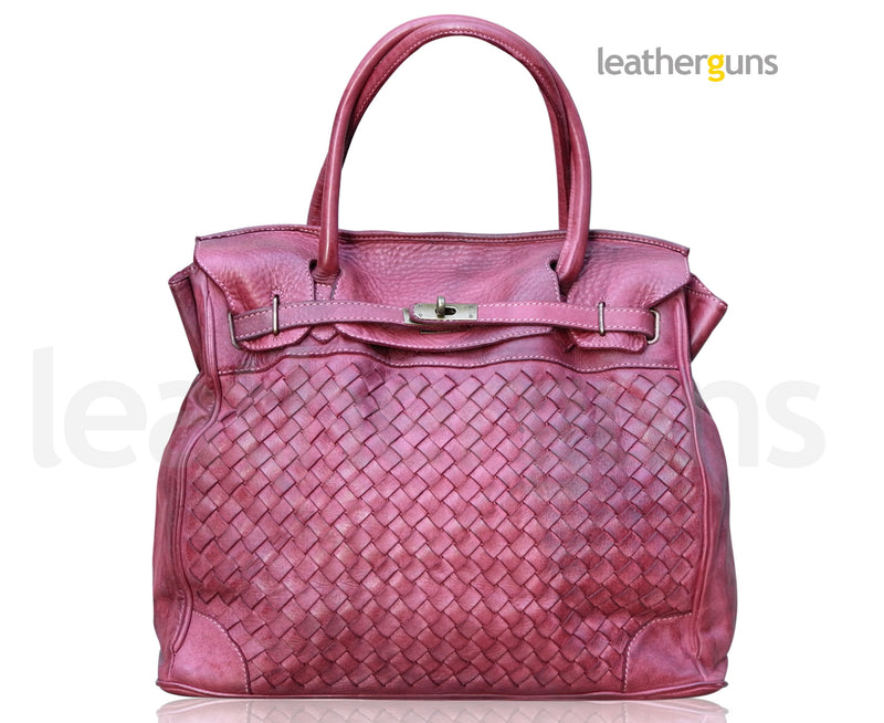 REBECCA LEATHER HANDBAG