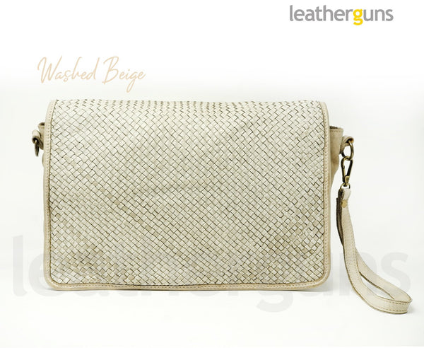 LELIA LEATHER CLUTCH