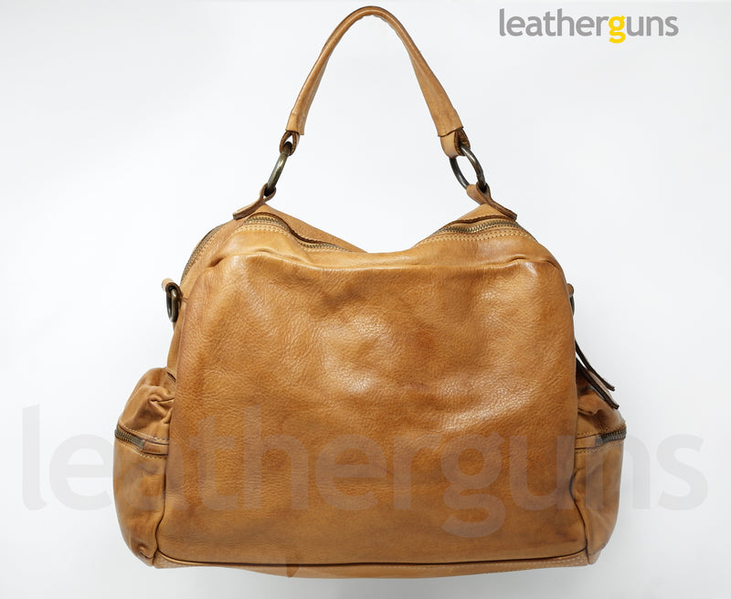 MONICA  LEATHER HANDBAG