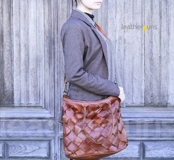 CORNELIA WOVEN LEATHER Bag