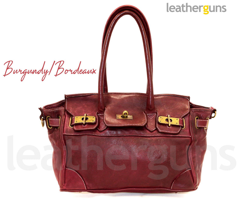 SILVIA LEATHER HANDBAG