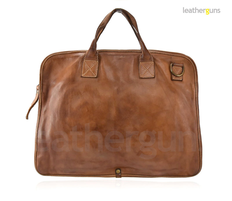 ANDREA LEATHER MESSENGER Bag