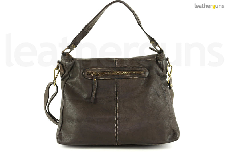 GINEVRA LEATHER SHOULDER Bag