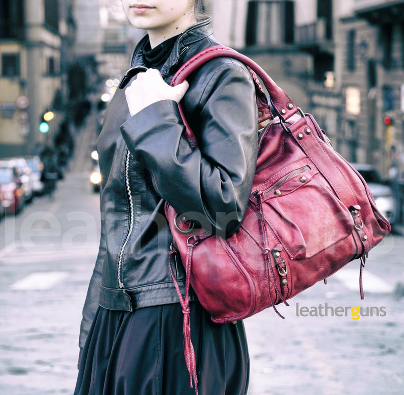 VITTORIA LEATHER HANDBAG