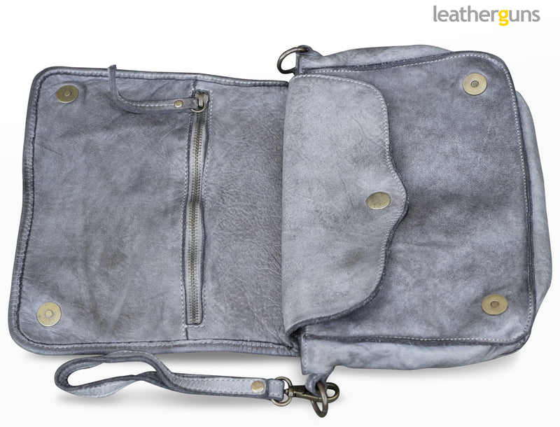 LEA LEATHER CLUTCH