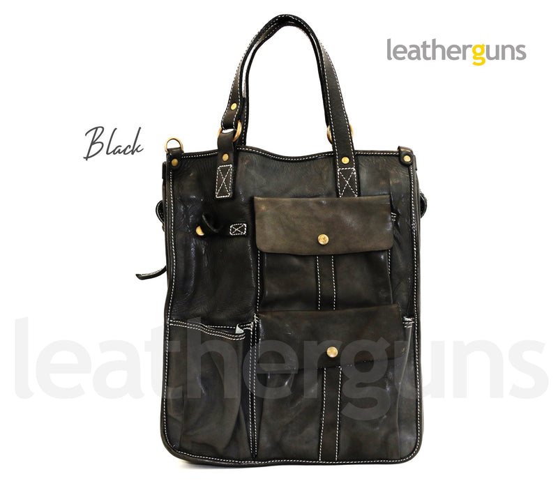 CHRISTOPHER LEATHER HANDBAG