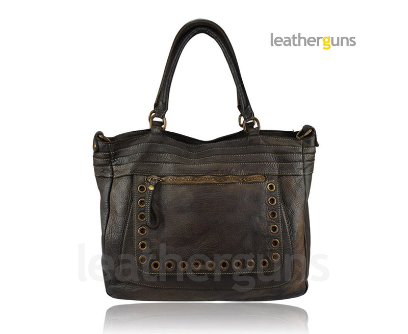 GAIA LEATHER HANDBAG