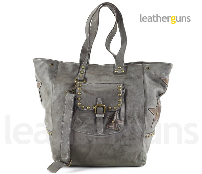 STELLA LEATHER HANDBAG
