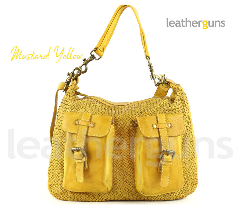 ILARIA WOVEN LEATHER BAG