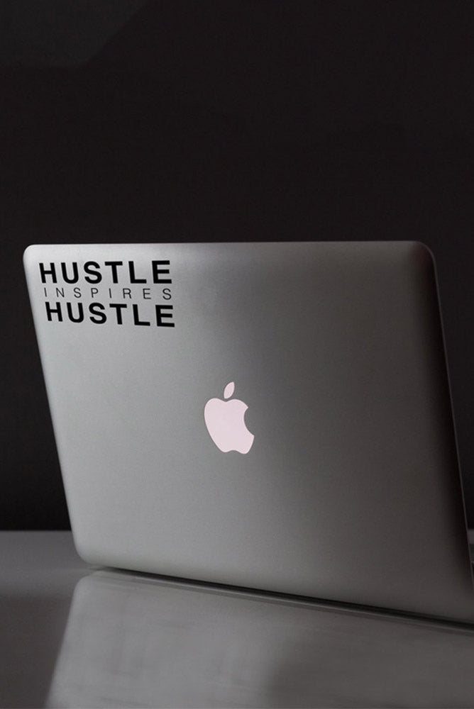 Hustle Inspires Hustle Black Decal