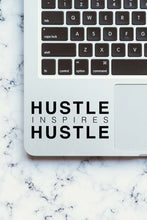 Load image into Gallery viewer, Hustle Inspires Hustle Black Decal