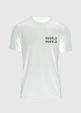 MENS Signature White Athletic Tee - Hustle Inspires Hustle