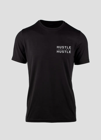MENS Signature Black Athletic Tee - Hustle Inspires Hustle