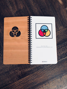 Planner/Notebook with custom wooden cover