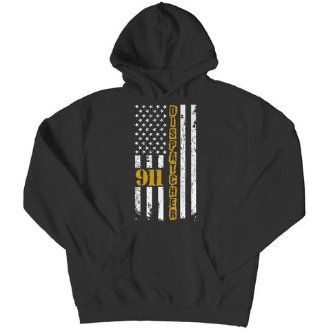 911 Dispatcher Flag - Limited Edition - Hoodie - Black / s - Hoodie - Visualtshirt.com