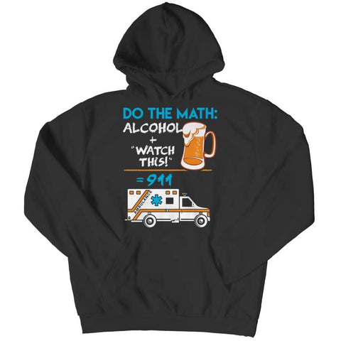 Alcohol + Watch this - Hoodie - Black / s - Hoodie - Visualtshirt.com