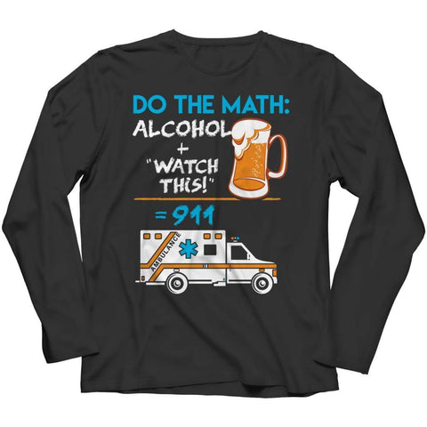 Image of Alcohol + Watch this - Hoodie - Long Sleeve / Black / s - Hoodie - Visualtshirt.com