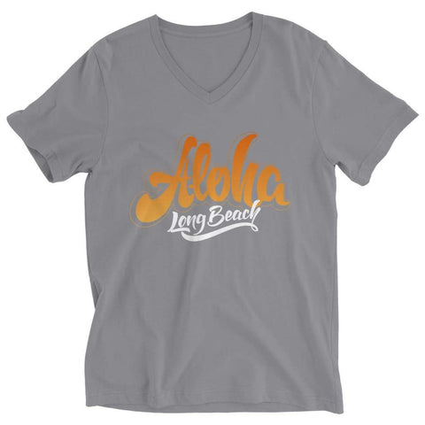 Aloha - Long Beach - T-shirt - Ladies V-neck / Athletic Heather / 2xl - Unisex Shirt - Visualtshirt.com