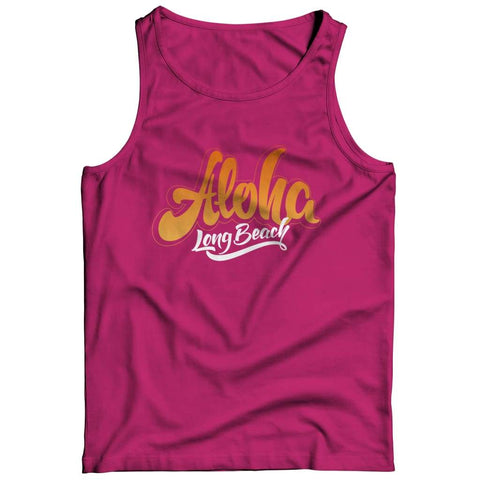 Aloha - Long Beach - T-shirt - Tank top / Pink / 3xl - Unisex Shirt - Visualtshirt.com