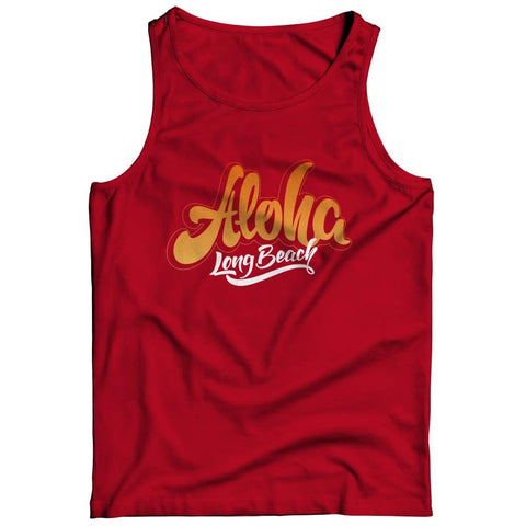 Aloha - Long Beach - T-shirt - Tank top / Red / 3xl - Unisex Shirt - Visualtshirt.com