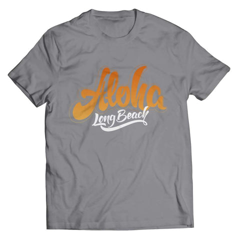 Aloha - Long Beach - T-shirt - Unisex Shirt / Athletic Heather / 5xl - Visualtshirt.com