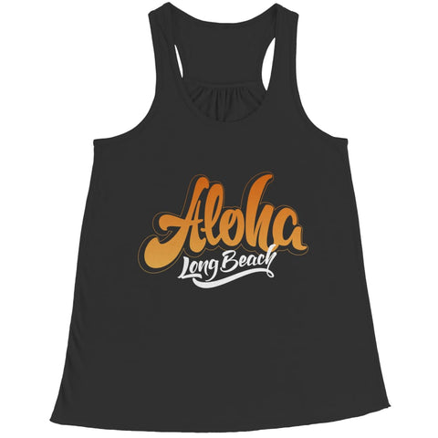 Aloha - Long Beach - T-shirt - Bella Flowy Racerback Tank / Black / 2xl - Unisex Shirt - Visualtshirt.com