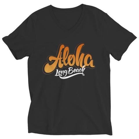 Aloha - Long Beach - T-shirt - Ladies V-neck / Black / L - Unisex Shirt - Visualtshirt.com