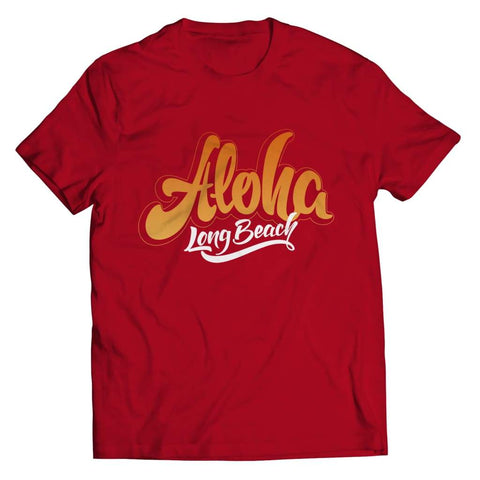 Aloha - Long Beach - T-shirt - Unisex Shirt / Red / 5xl - Visualtshirt.com