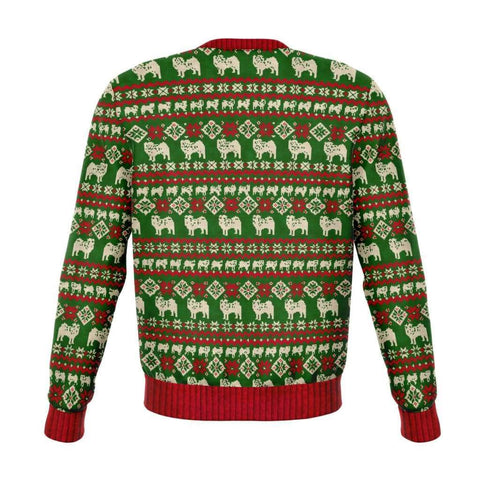 Bah Humpug Pug Lover Ugly Christmas Sweater - Athletic Sweatshirt - Aop - Visualtshirt.com
