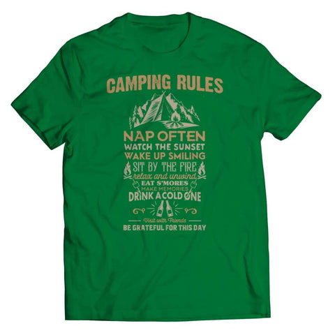 Camp Rules - Long Sleeve - Unisex Shirt / Kelly / s - Tank top - Visualtshirt.com