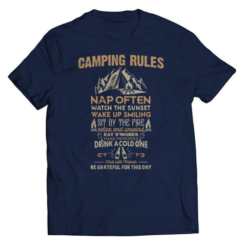 Image of Camp Rules - Long Sleeve - Unisex Shirt / Navy / s - Tank top - Visualtshirt.com