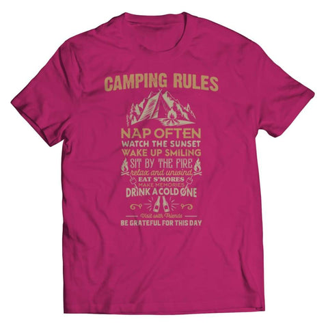 Camp Rules - Long Sleeve - Unisex Shirt / Pink / s - Tank top - Visualtshirt.com