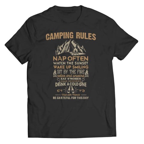 Image of Camp Rules - Long Sleeve - Unisex Shirt / Black / s - Tank top - Visualtshirt.com