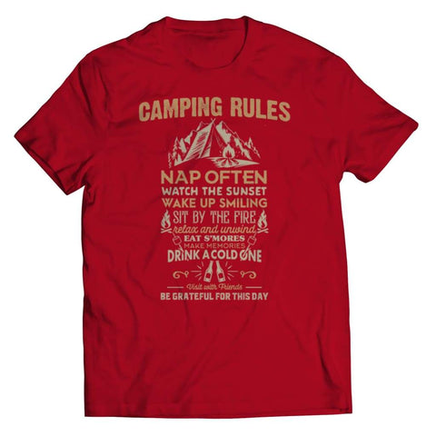 Camp Rules - Long Sleeve - Unisex Shirt / Red / s - Tank top - Visualtshirt.com