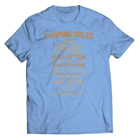 Image of Camp Rules - Long Sleeve - Unisex Shirt / Light Blue / s - Tank top - Visualtshirt.com