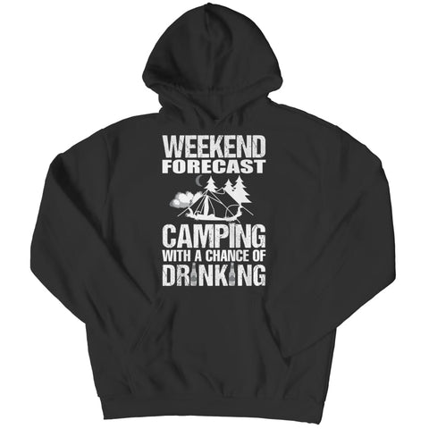 Camping with a Chance of Drinking - Long Sleeve - Hoodie / Black / s - Visualtshirt.com