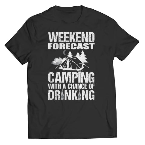 Camping with a Chance of Drinking - Long Sleeve - Unisex Shirt / Black / s - Visualtshirt.com
