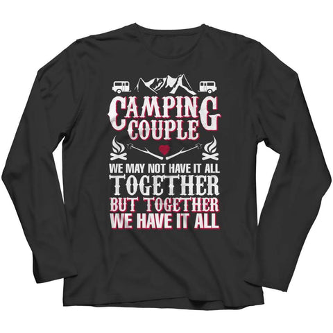 Image of Camping Couple - Long Sleeve - Black / s - Visualtshirt.com
